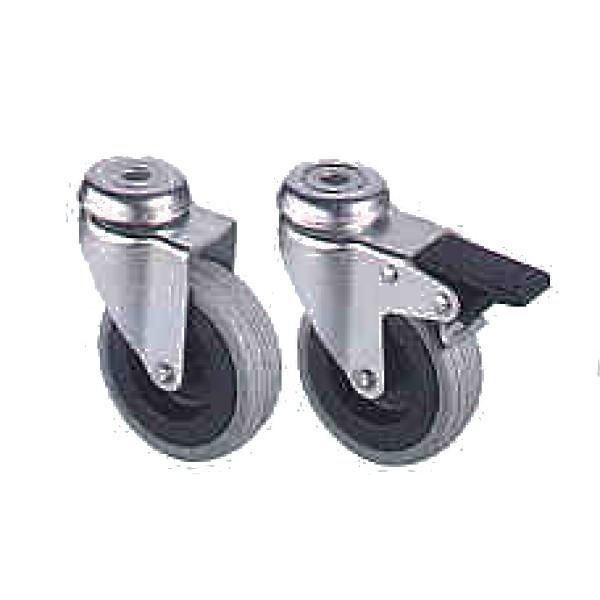 Lenkrolle 75 mm Gummibelag, gebremst