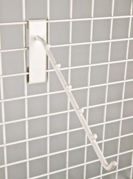 Schwerlast-Einfachhaken in weiß mit 5 Kugeln geneigt