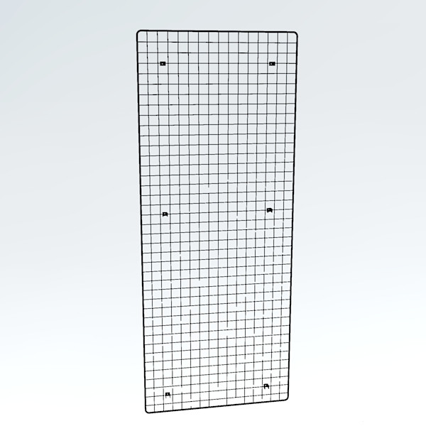 Wandgitter schwarz 200 x 80 cm