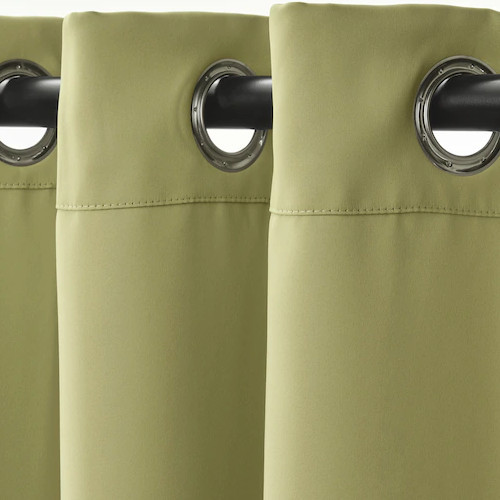 Vorhang mit Rundösen für Umkleidekabine, olivgrün1 Stck.