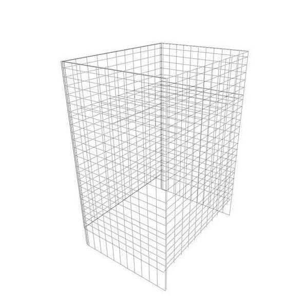 Wühlkorb, 47 x 45 x 75 cm, 12-fach höhenverstellbar
