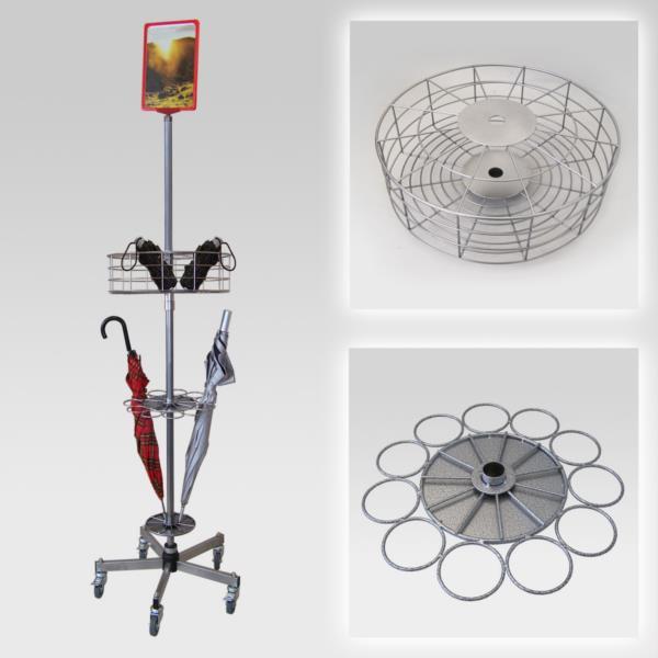 Schirmständer für 44 Regenschirme