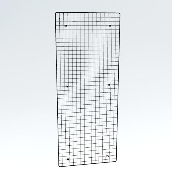 Wandgitter chrom 200 x 80 cm