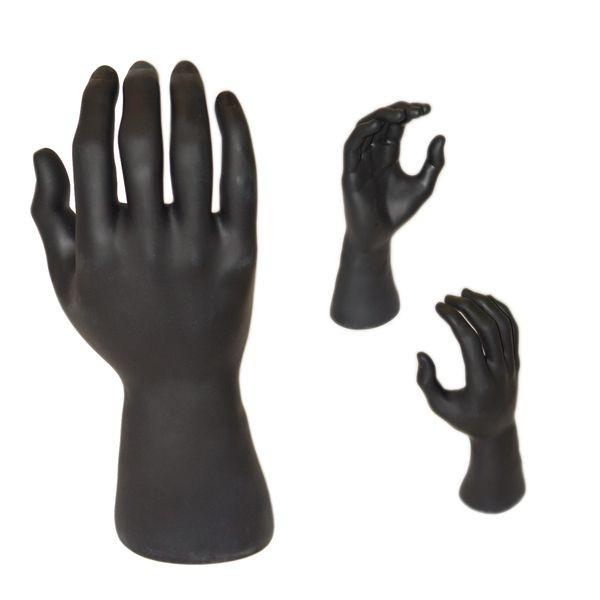 Herrenhand, schwarz, Höhe: 24 cm