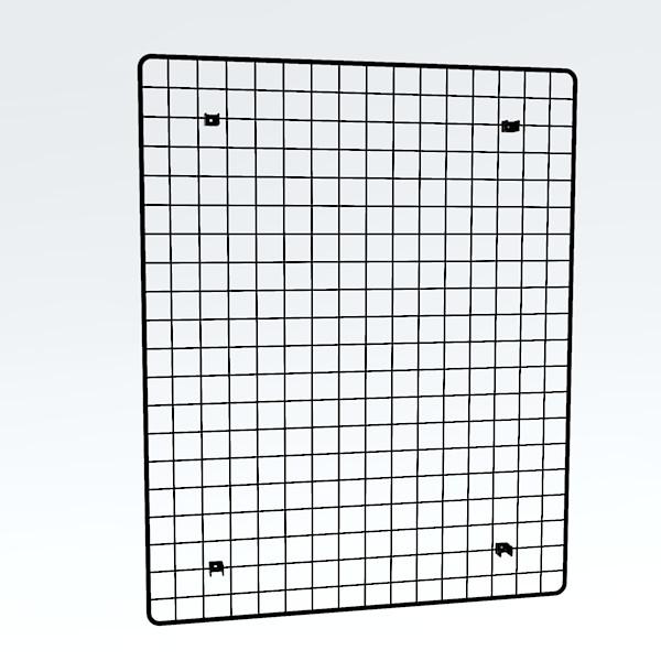 Wandgitter schwarz 100 x 80 cm