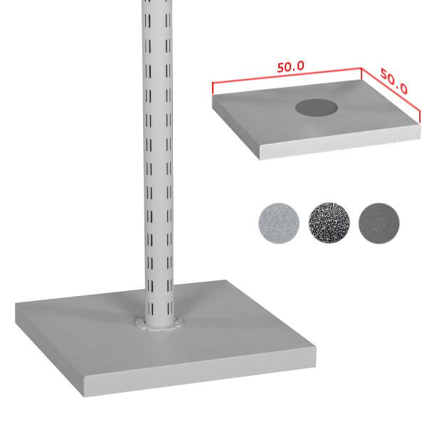 Fußplatte für Tube Säule, 50 x 50 cm