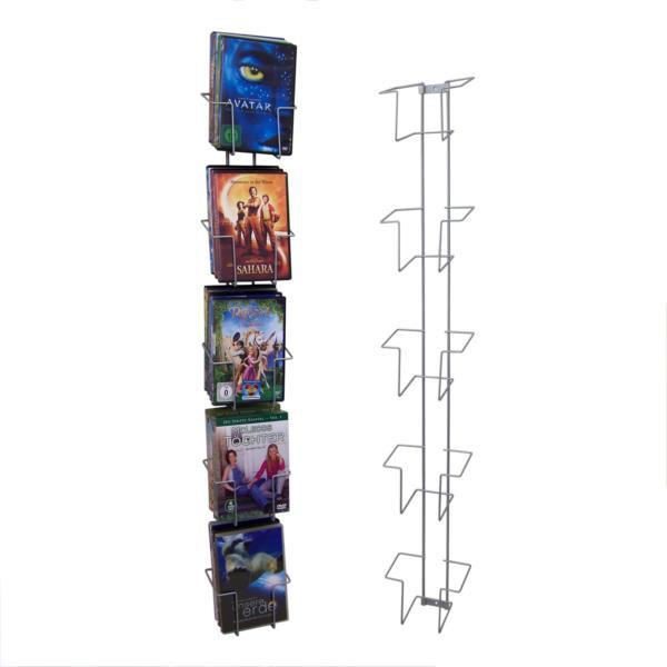 Wandhalter für DVD mit 8 Fächern
