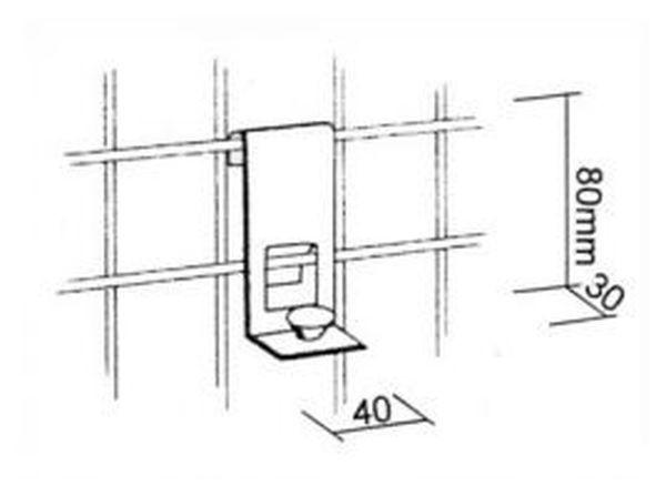 Träger für Holz- oder Glasplatten in chrom