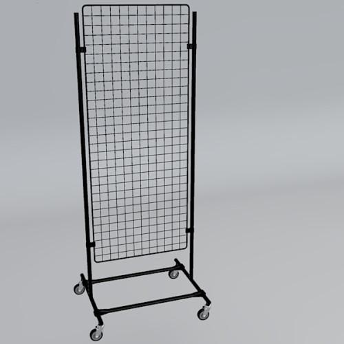 Gitterwand auf Rollen 150 x 60 cm schwarz