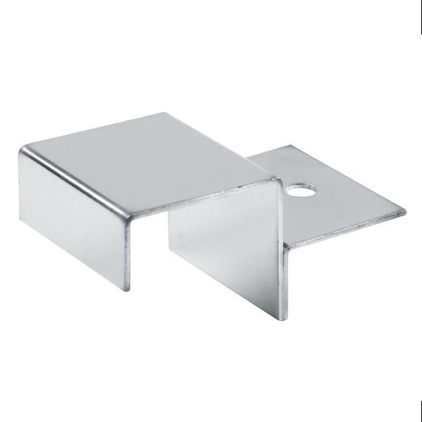 25x25 Vierkant Plattenträger für Holz, chrom, einfach