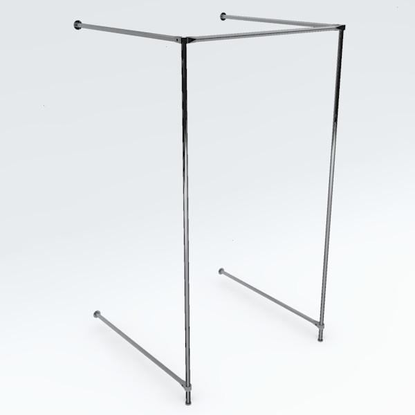 Wand-Umkleidekabine einfach, Breite: ca. 100 cm