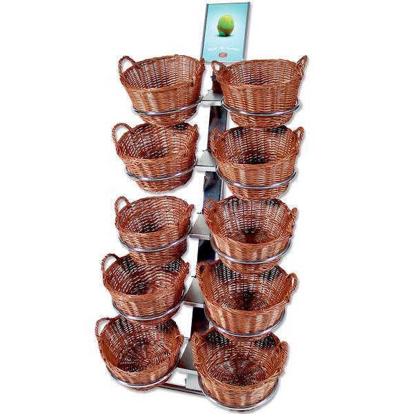 Korb-Verkaufsständer mit 10 runden Körben
