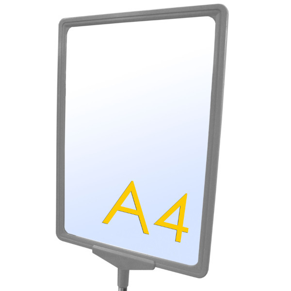 A4 Plakatrahmen grau