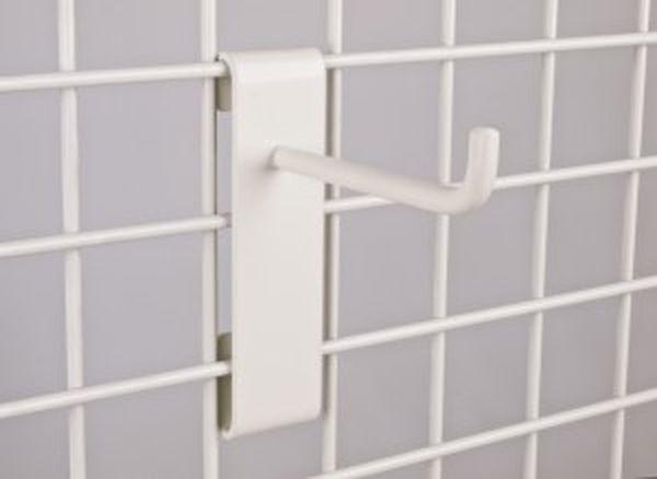 Schwerlast-Einfachhaken in weiß, Länge: 100 mm