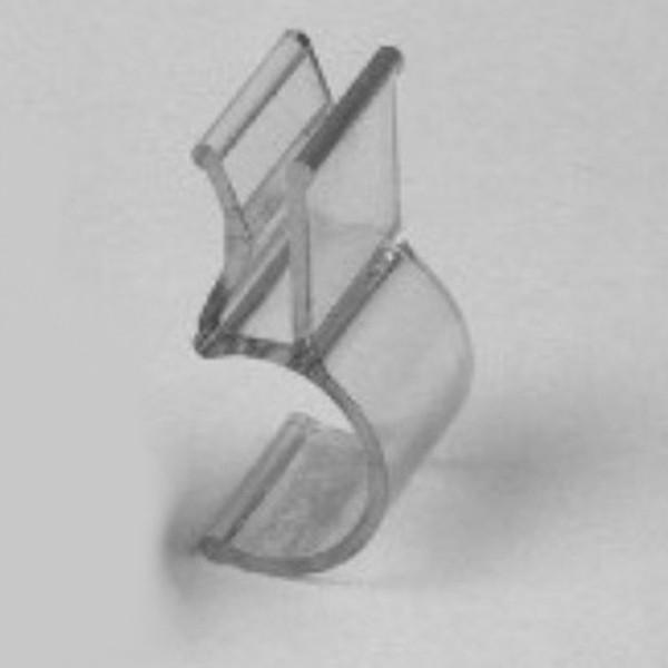 Glashalter Kunststoff für 4 mm Glasplatten