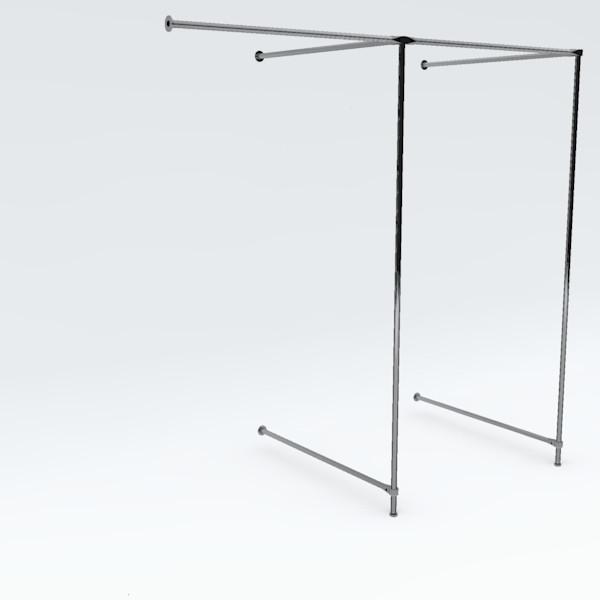 Eck-Umkleidekabine doppelt, Breite: ca. 200 cm
